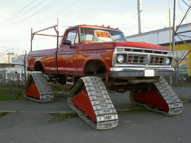 Ford Highbody with tracks