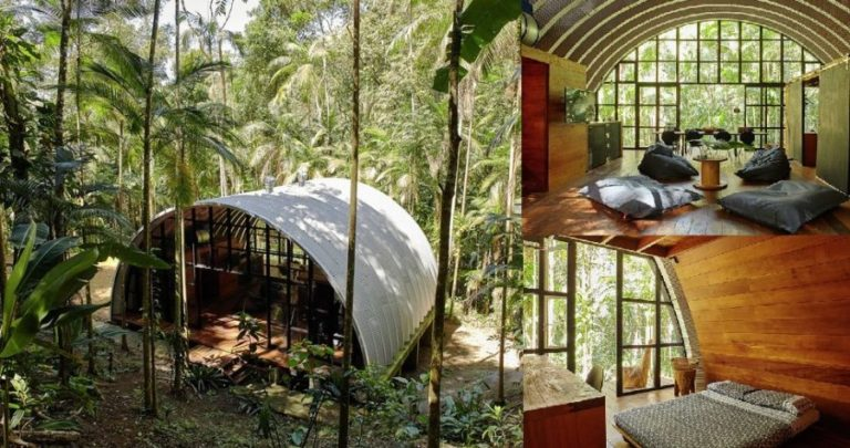 This prefab jungle home