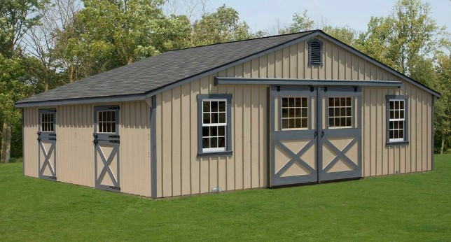 Amish style barn houses start at 5 400 and are built on for Amish built pole barn houses