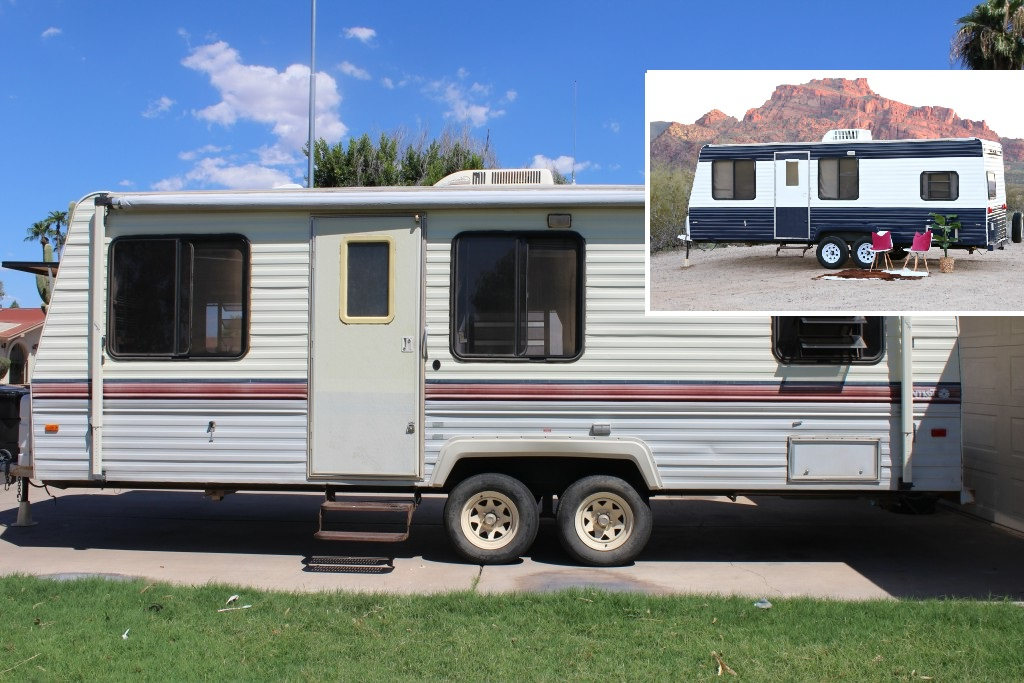Camper Makeover How To Repaint A Camper Or Rv