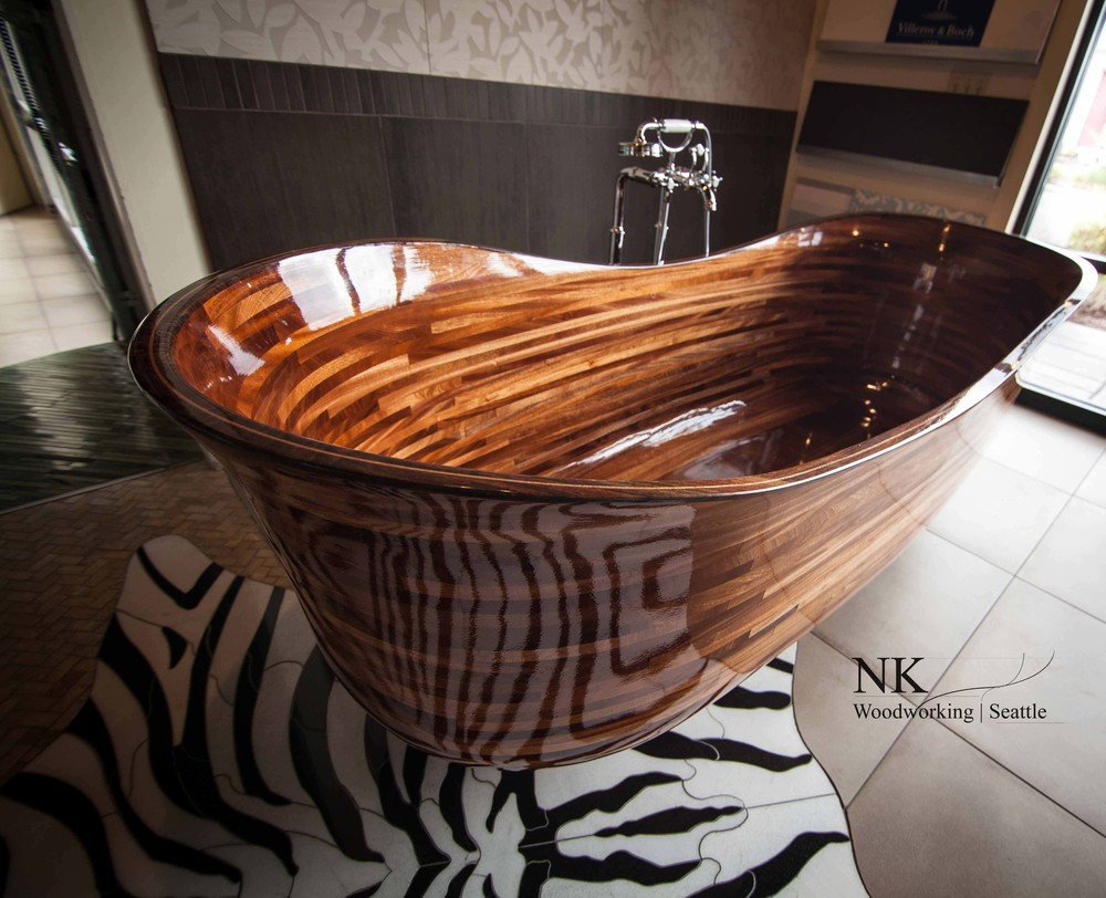 Unique Wooden Bathtubs Design