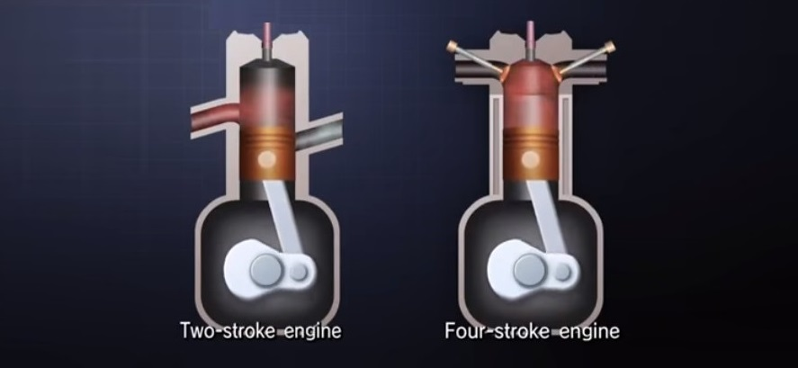 2 stroke and 4 stroke engines