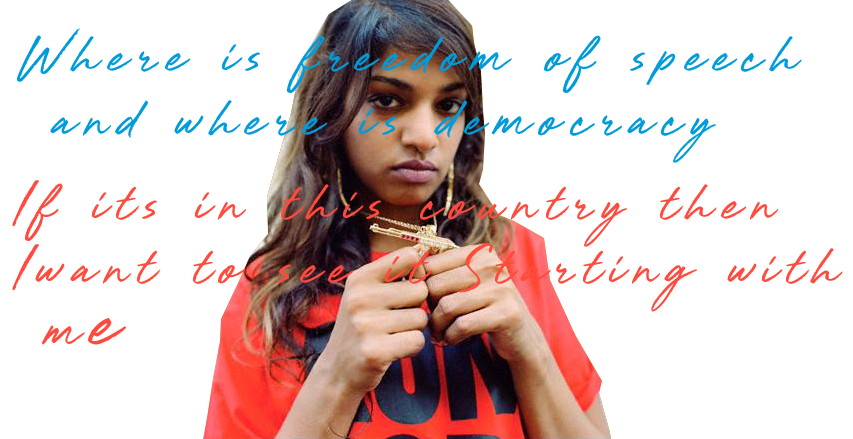 M.I.A. Freedom of speech