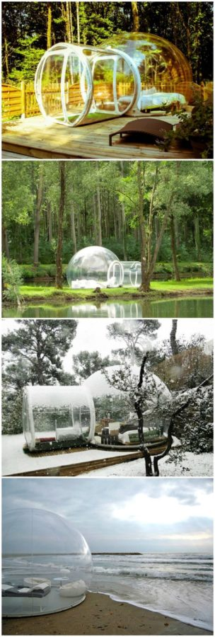Bubble tents for the back yard, or the beach