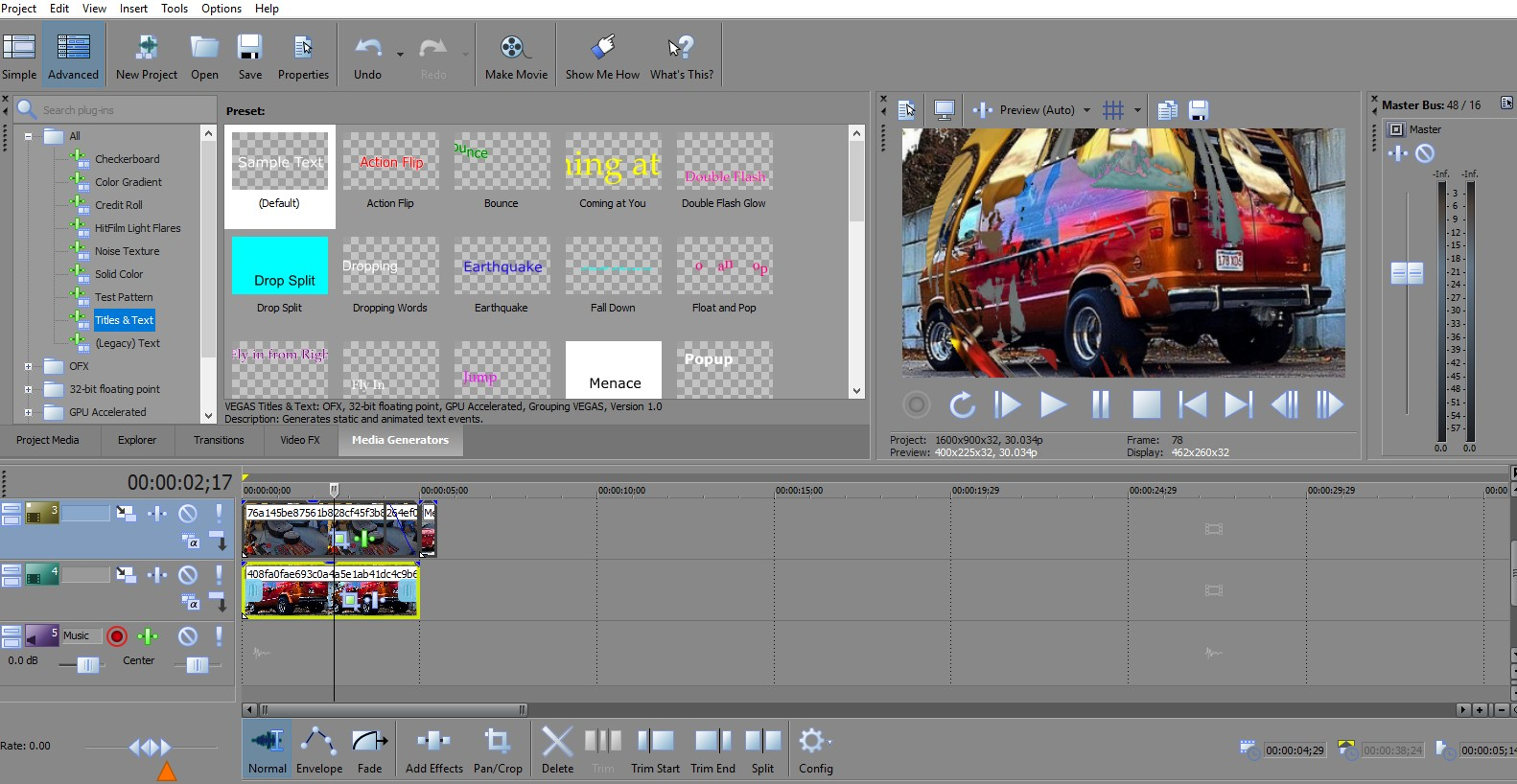 Movie Studio Platinum - Shortcuts, Hotkeys, and Tools