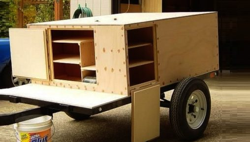 The simplest camper trailer you can build in your driveway