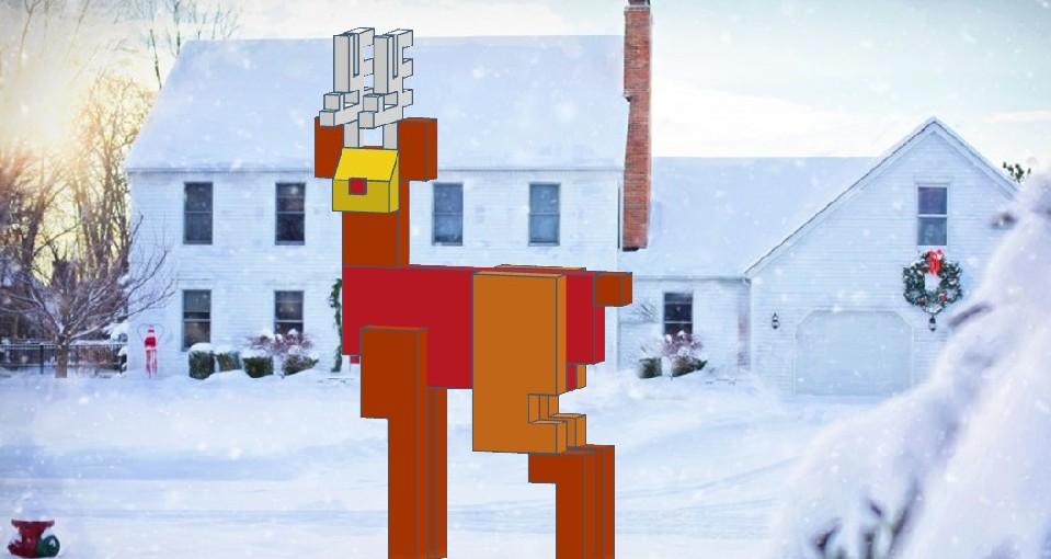Make 8bit Wooden Reindeer